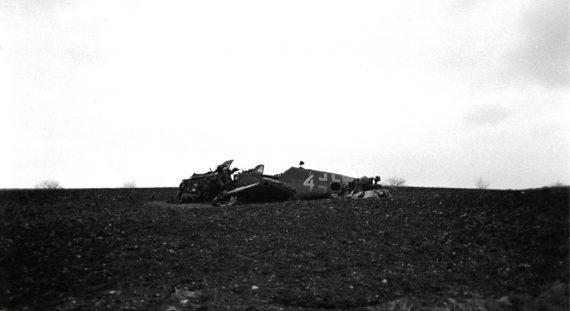 Bf 109 G-14 abgestürzt in Ascheloh